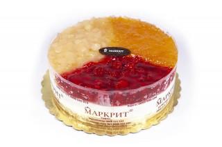Плодова торта с маскарпоне (малина, ябълка, кайсия)